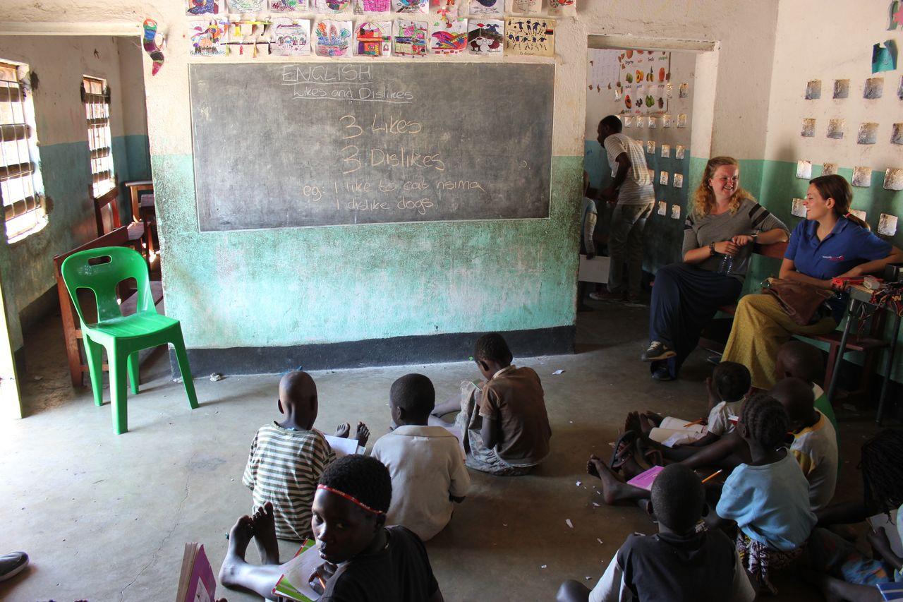 Teaching in class 2