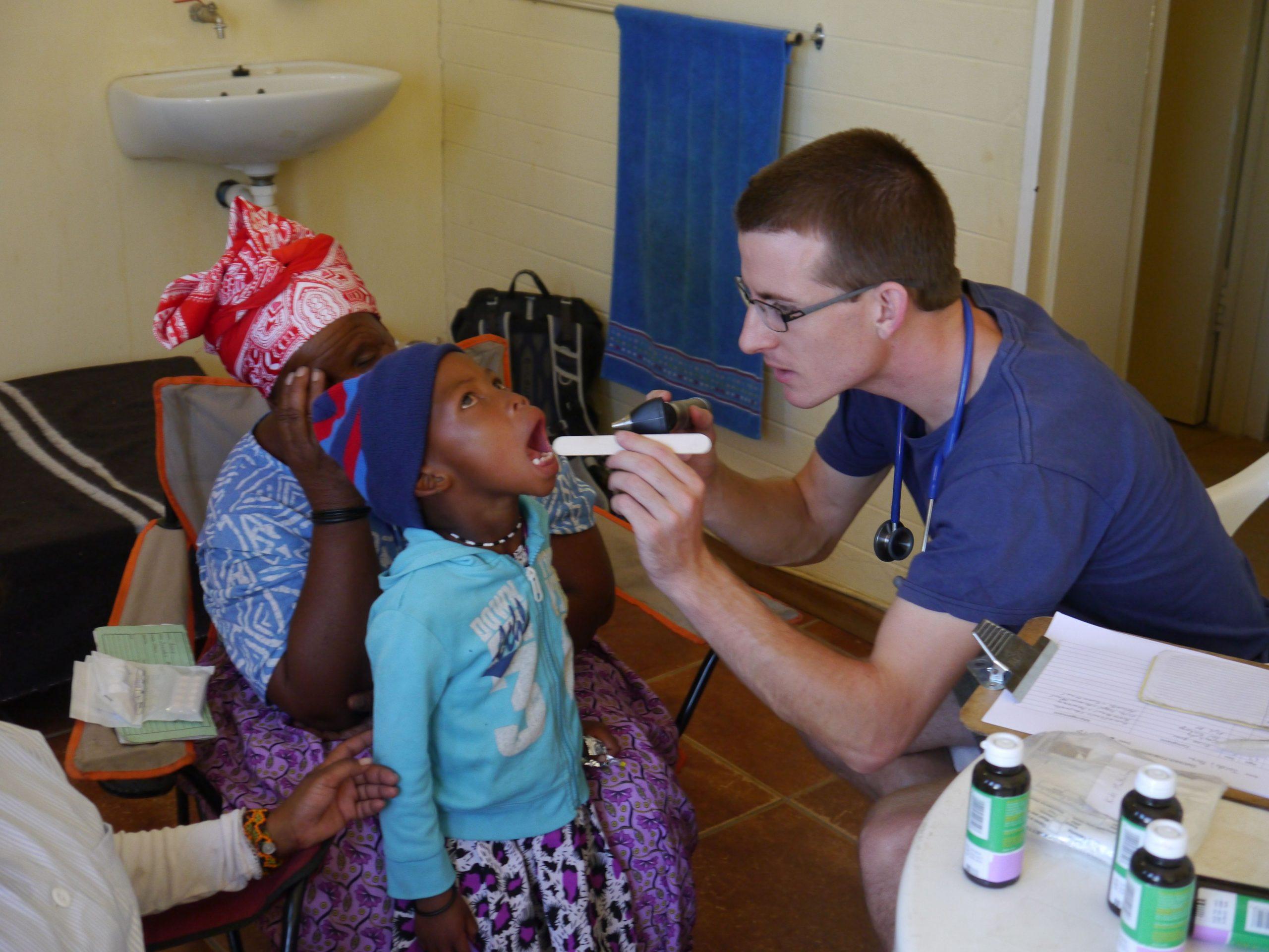 Medical check on child